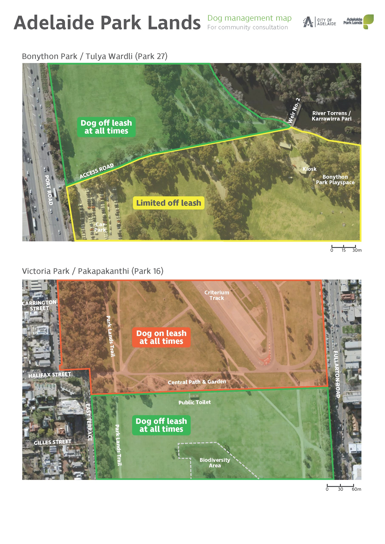 Proposed dog management - Parks 27 & 16