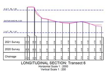 2021 survey result for north-eastern Norfolk Beach