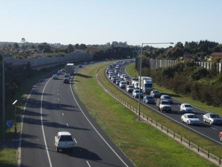 Monash Freeway Hallam Bypass during morning peak