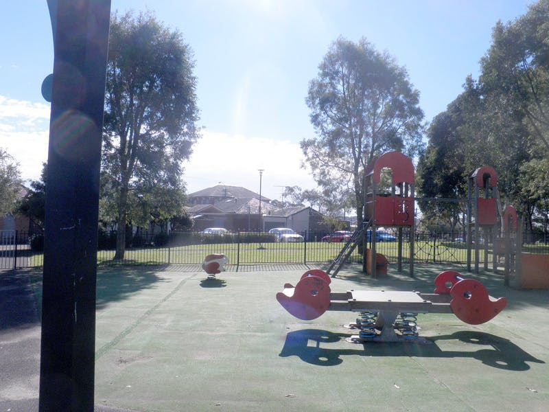 Existing playground with see-saw for possible refurbishment