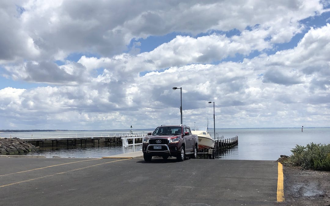 Boat launching at Point Richards boat ramp