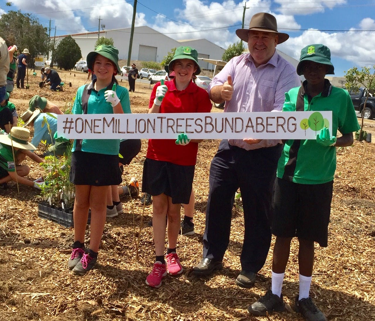 Mayor Jack Dempsey with East State School students.jpg