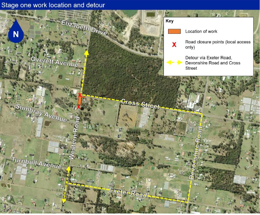 Kemps Creek - Traffic changes on Western Road