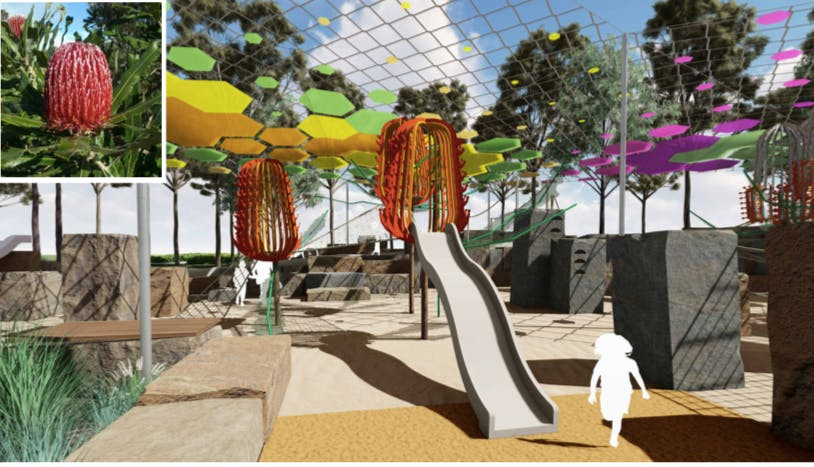 Intergenerational Playground - Sculpture play towers