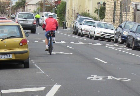 Shared Lane with marking symbols