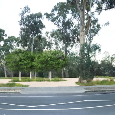 Artists impression of the expanded and improved public car park off Stonyfell Drive, Wattle Park