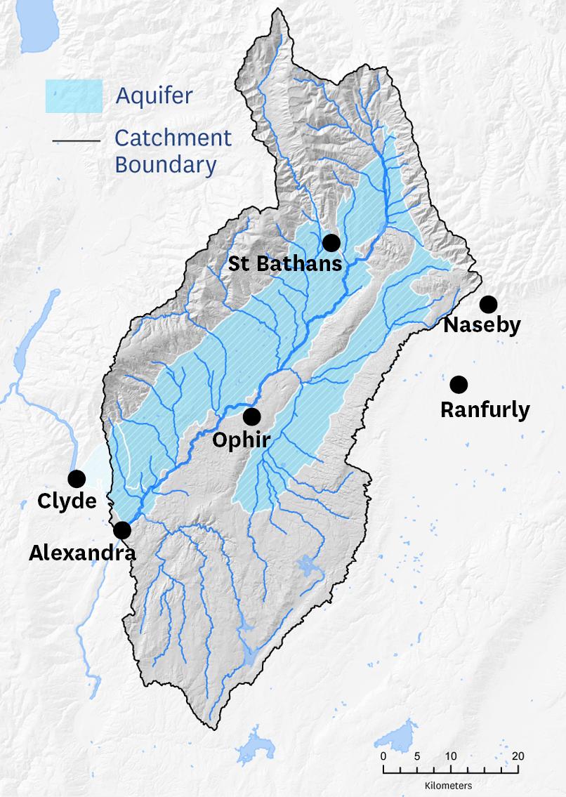 Map of the Manuherekia Rohe