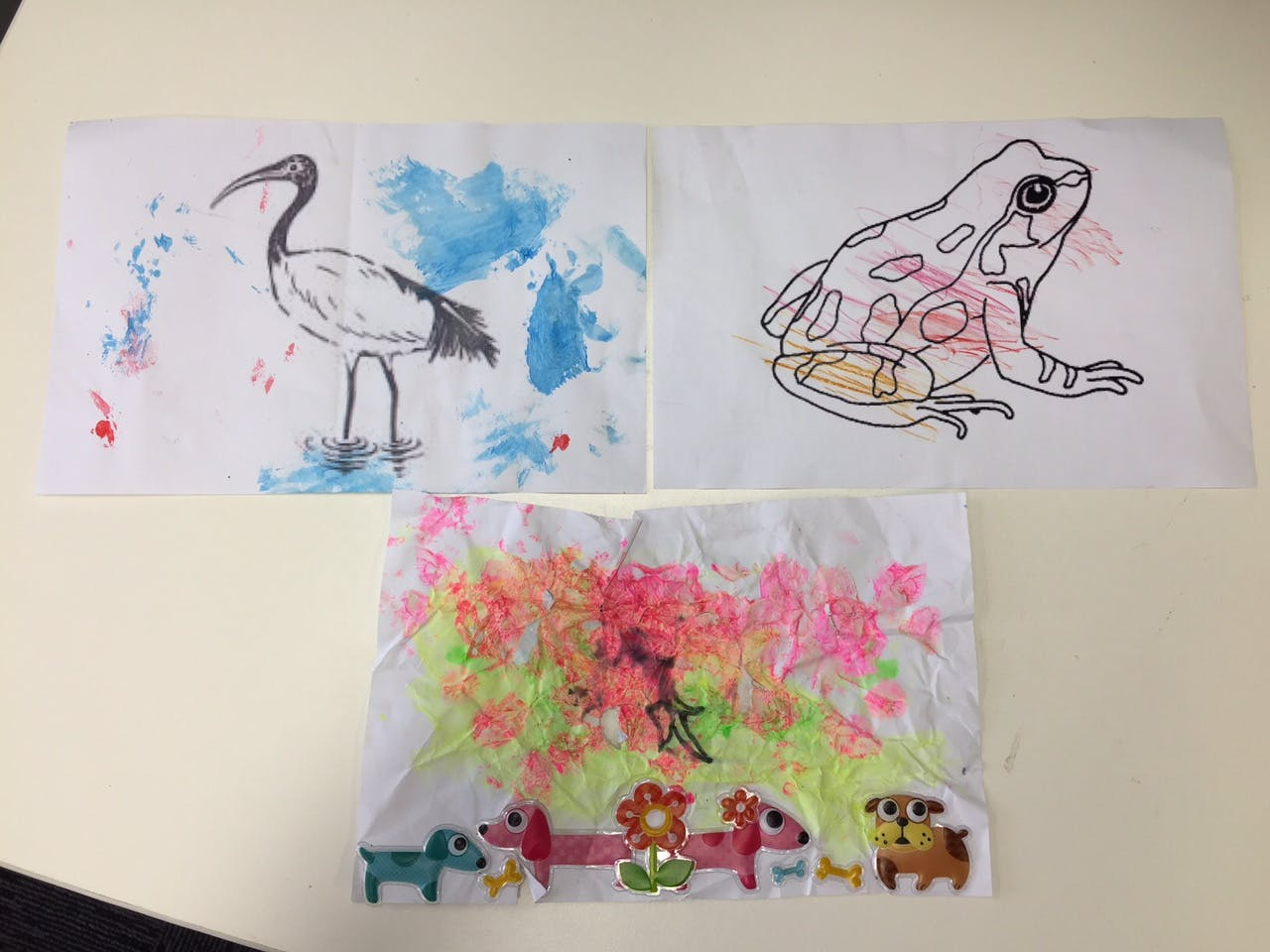Craft masterpieces from the kids!