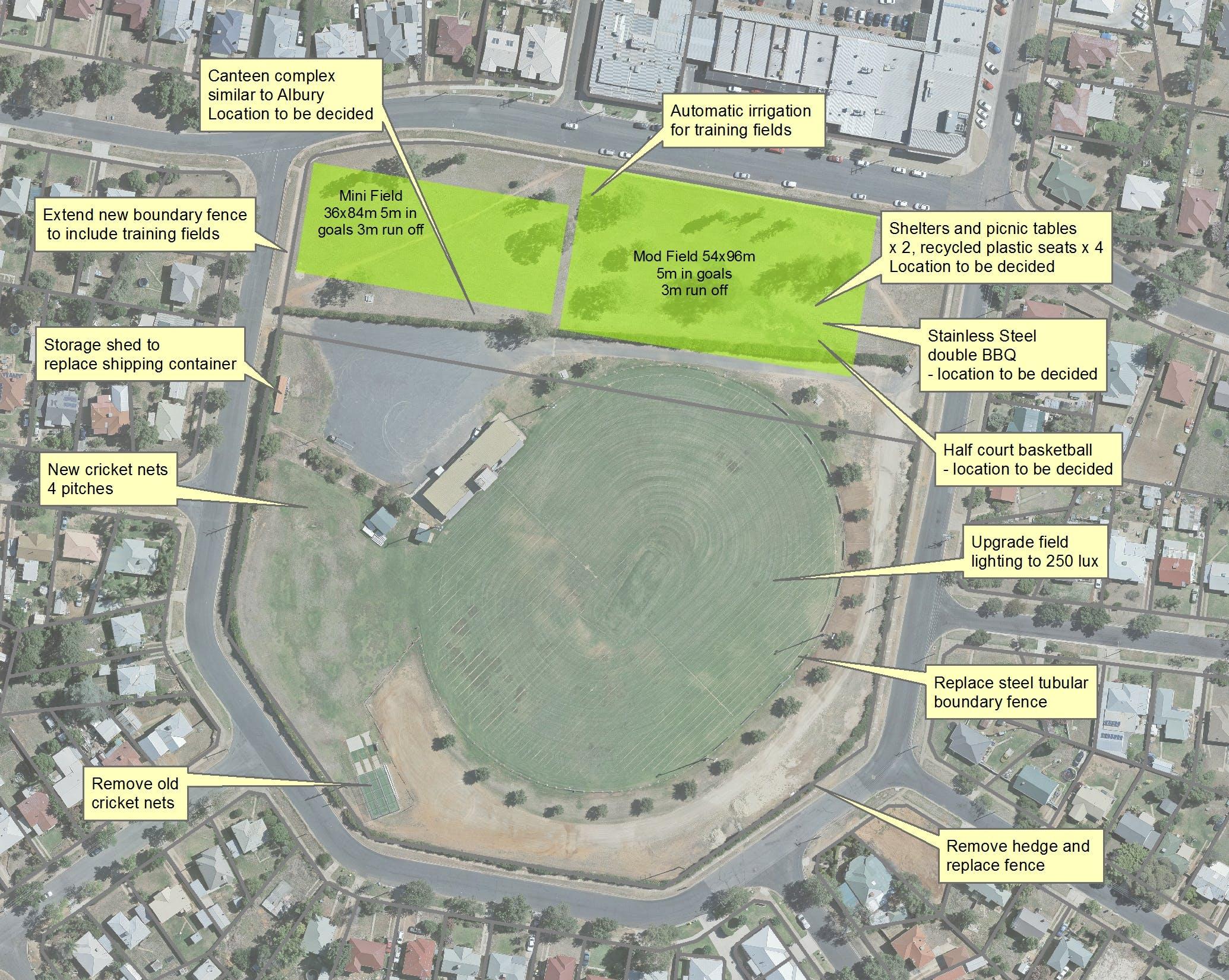 Harris Park master plan concept