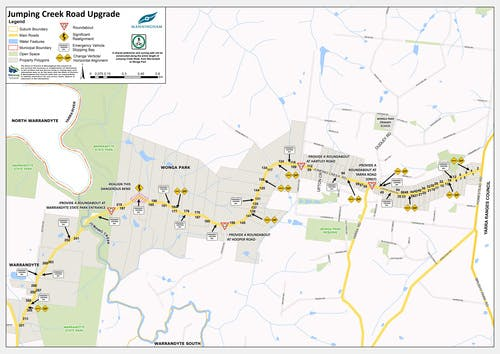 Jumping Creek Road Upgrade Map