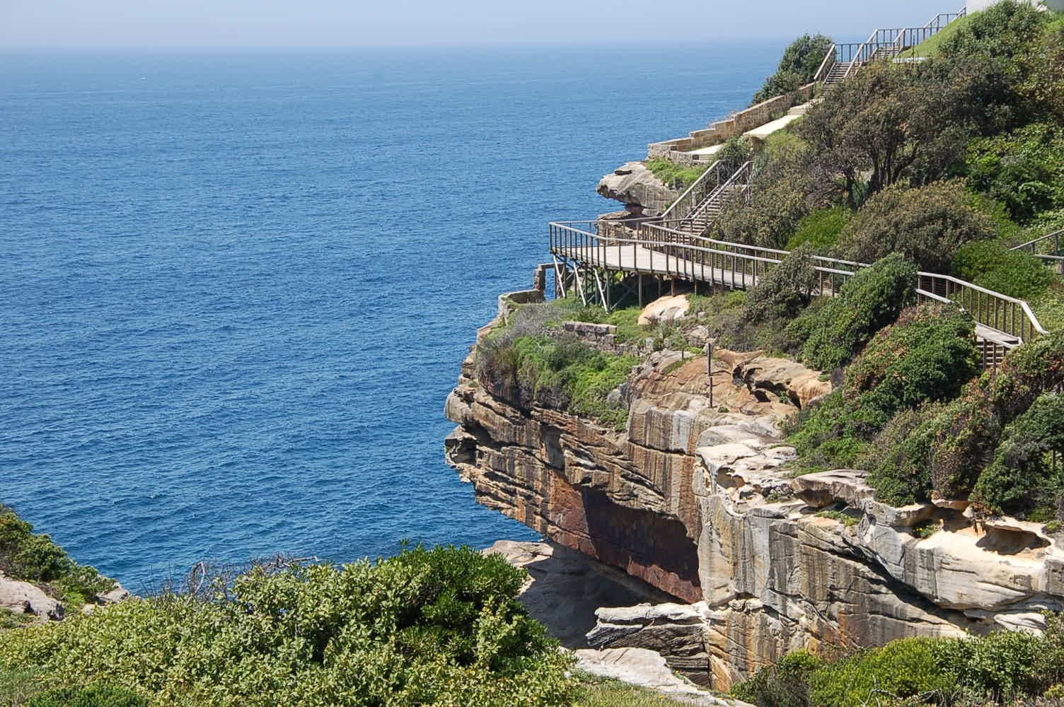 Example of a cliff top walkway