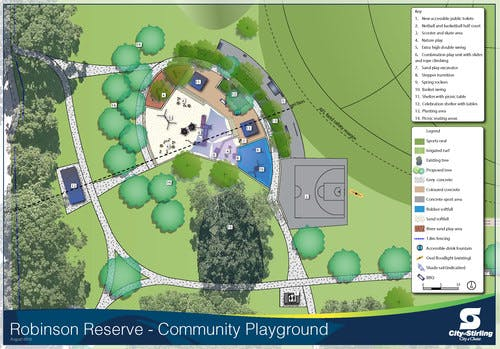 Robinson Reserve Community Playground Concept Design