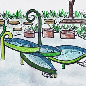 Water Play Table Sketch 300