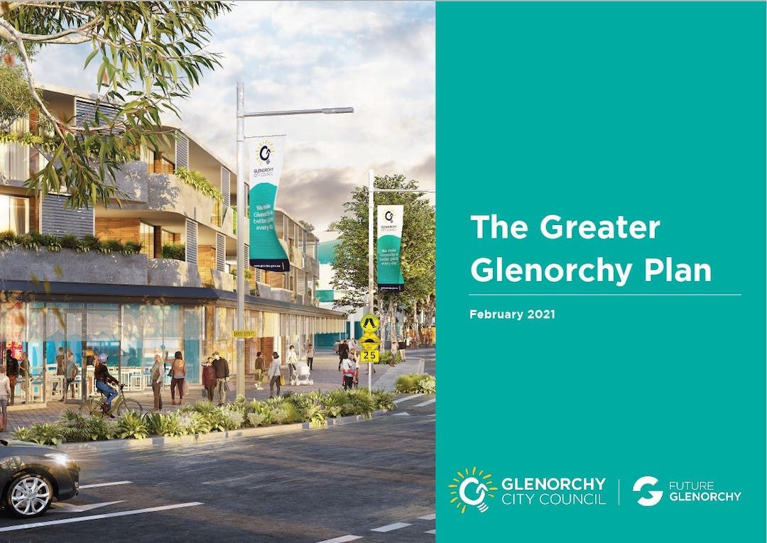 Greater Glenorchy Plan Graphic with blue background