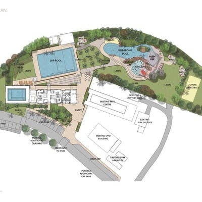 Aquatic center layout