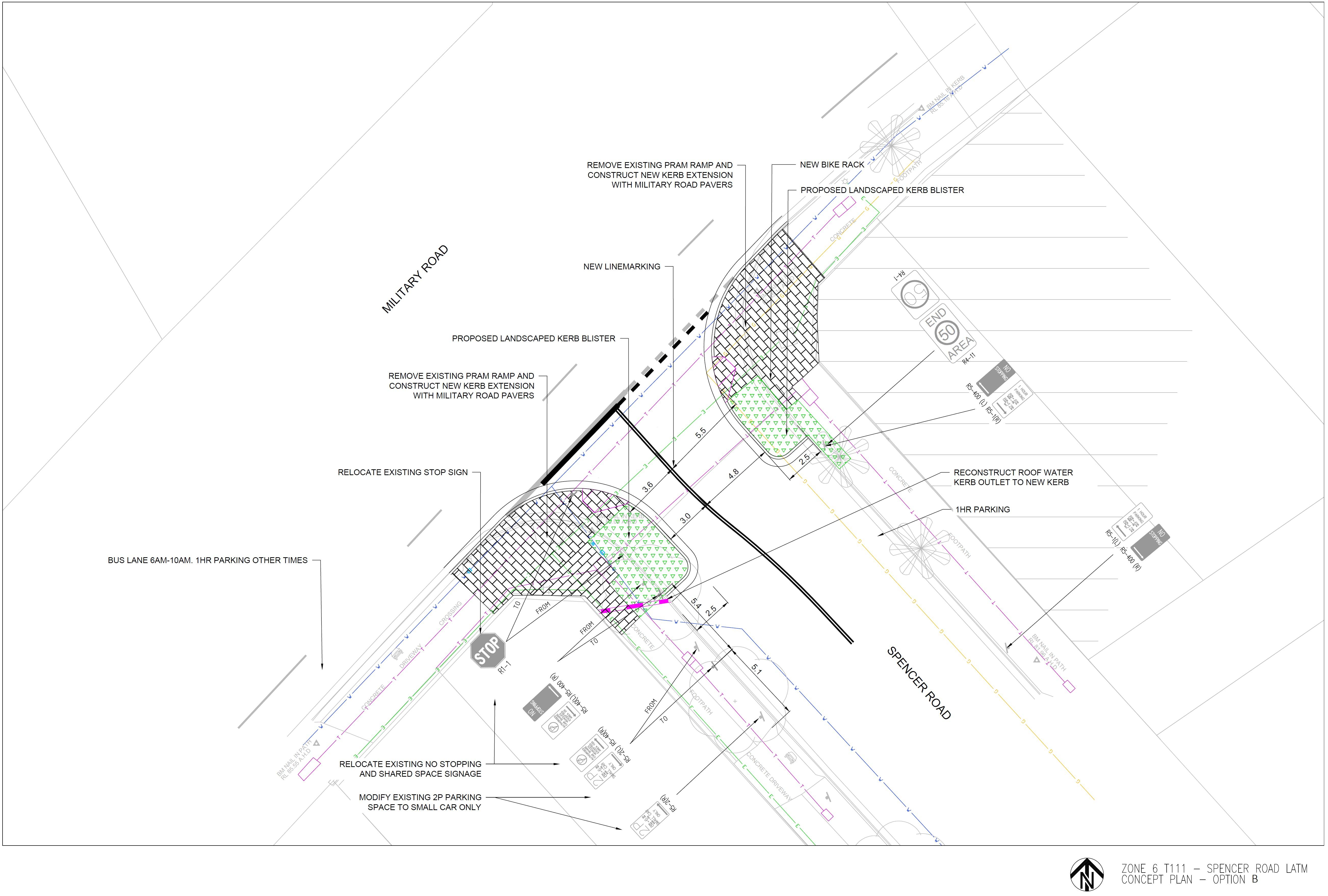 Spencer Road Option B - 2D Design