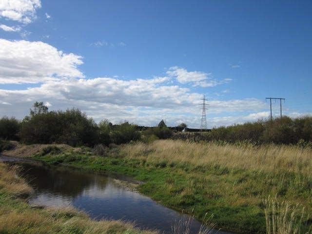 Waihopai River along walkway