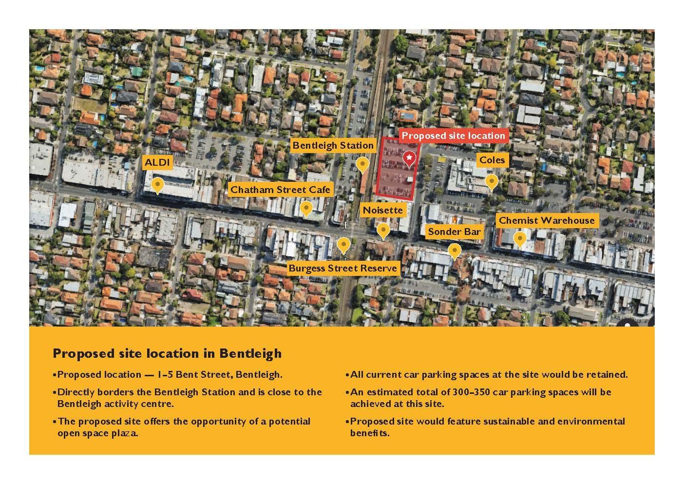 Multideck Car Park Map - Bentleigh