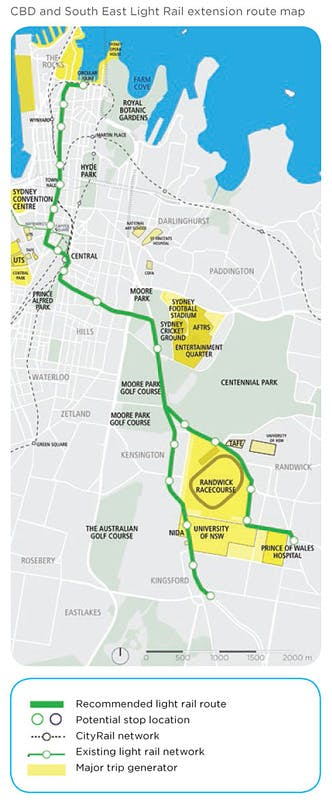 NSW Government Light Rail Map - released December 2012