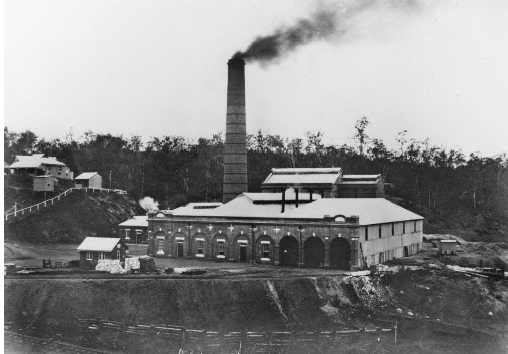 East Bank Pump Station, 1927 (State Library of Queensland)