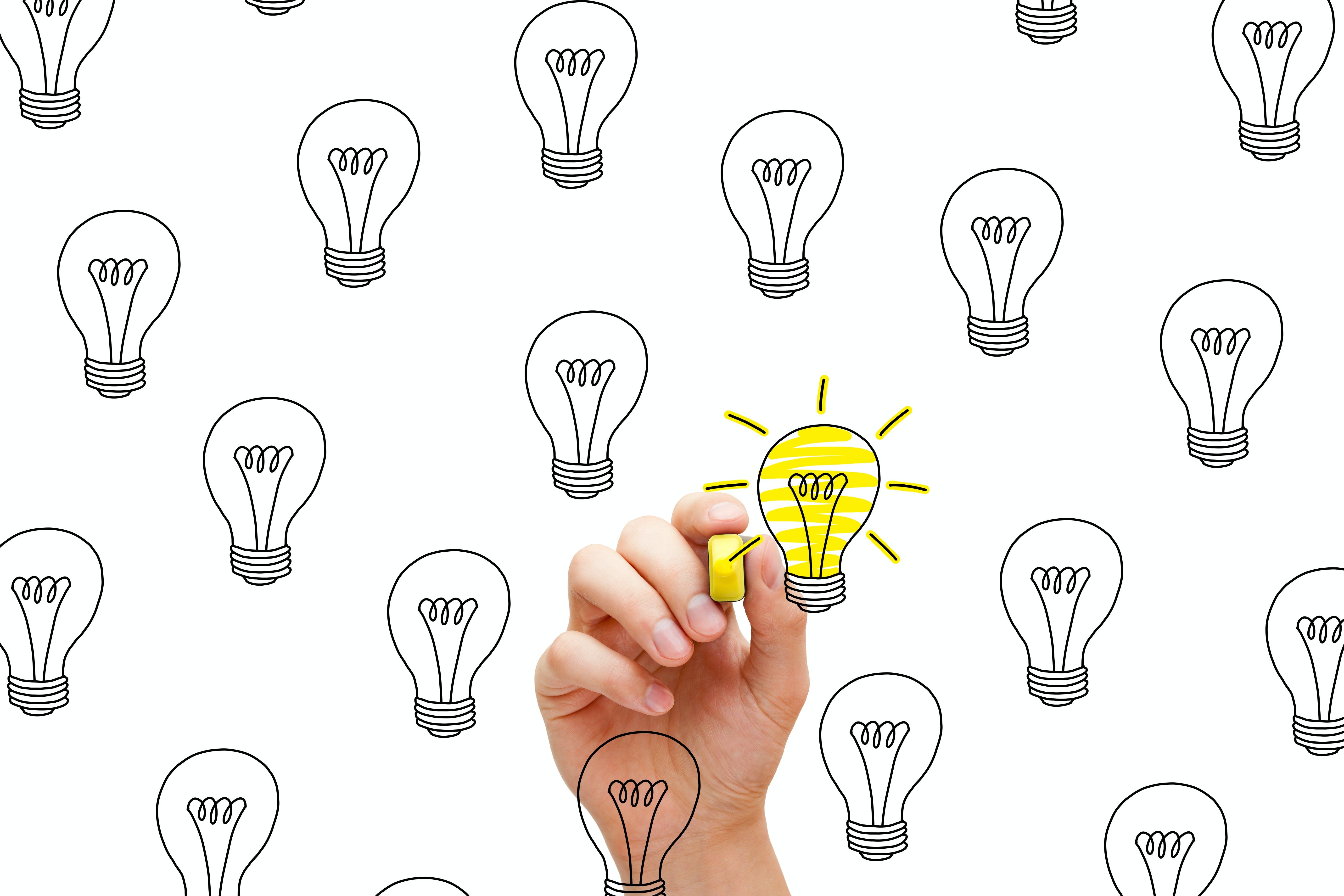 Lightbulbs with hand