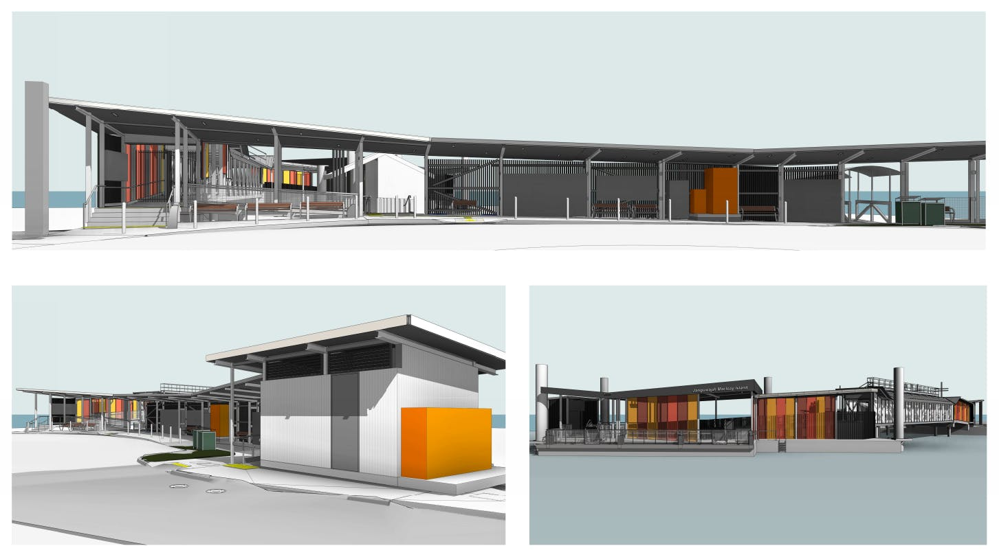 3D images of the future Macleay Island ferry terminal