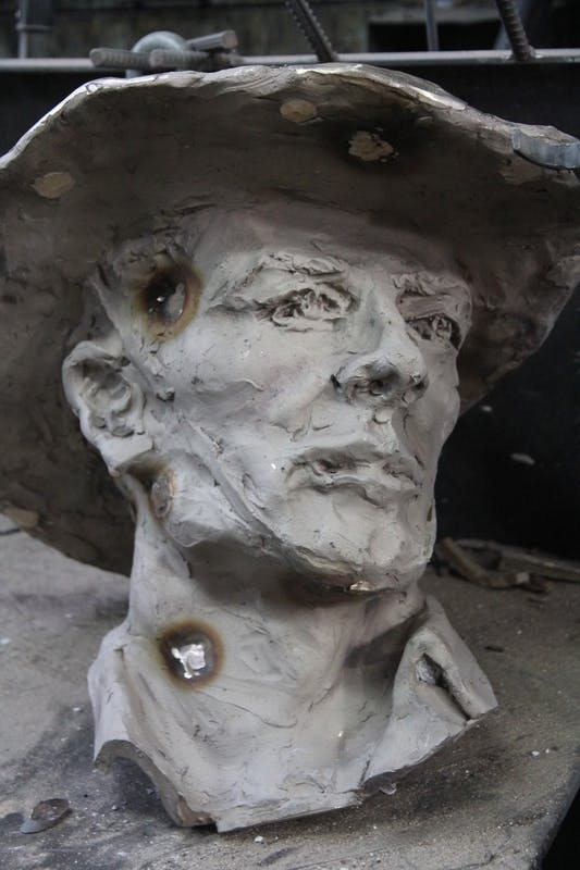 Sculpture in progress August 2013