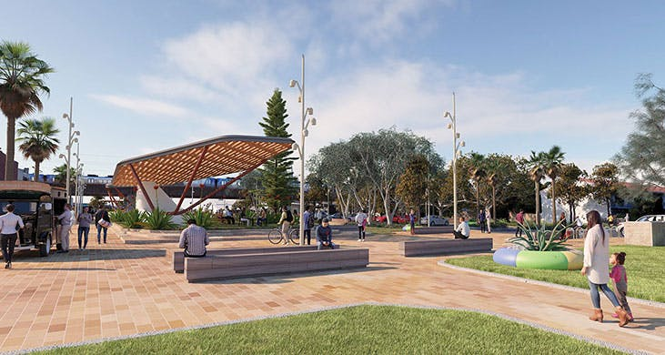 Artist impression of Carrum promenade