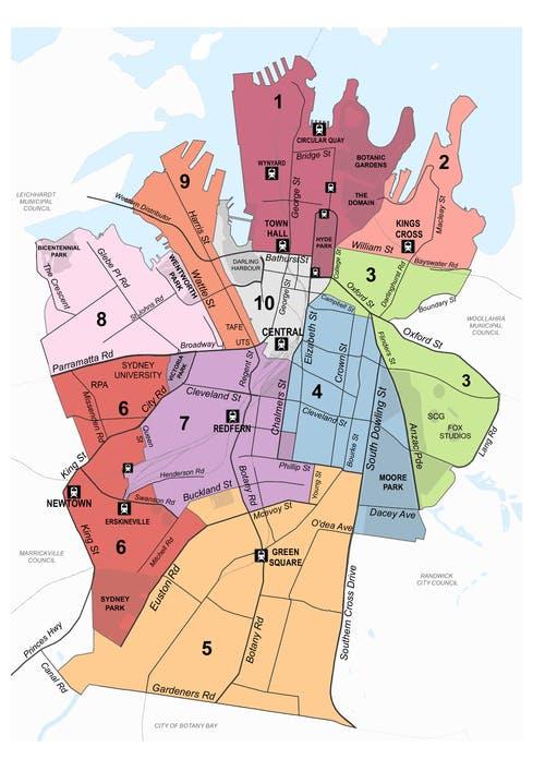Sydney local area map