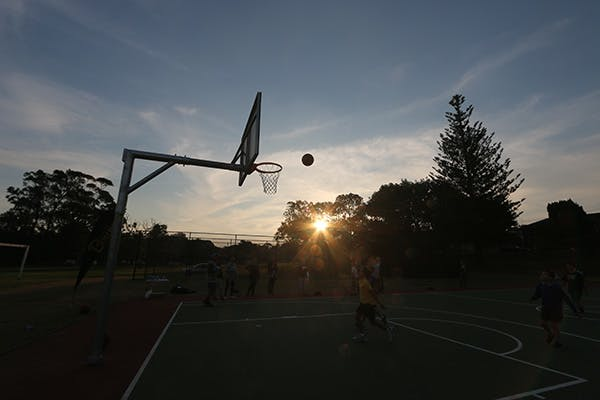 Trying out the new court