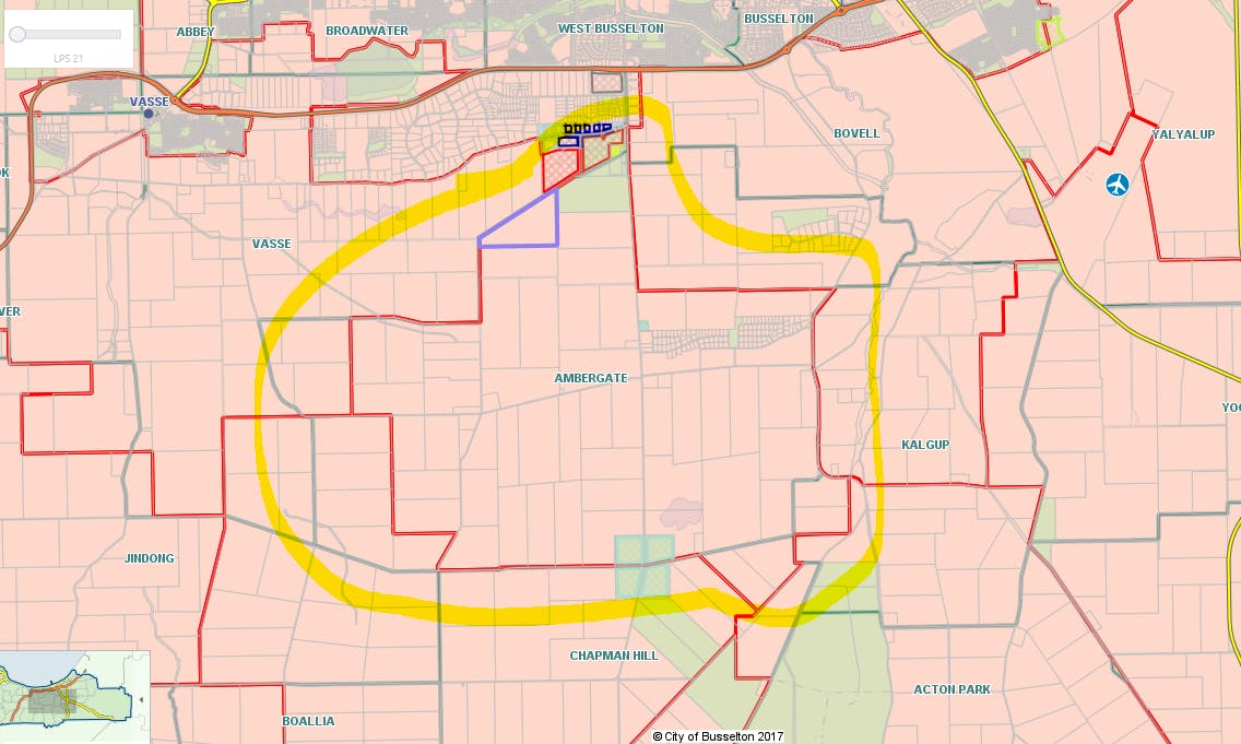 Figure 1 shows the area of the Ambergate Volunteer Bush Fire Brigade service area