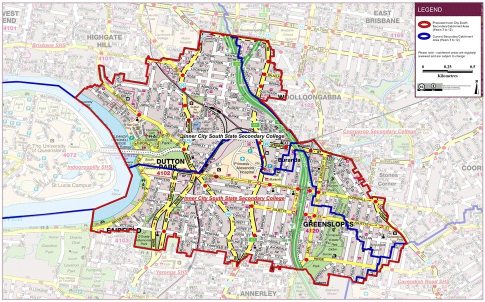 Inner City South State Secondary College catchment map