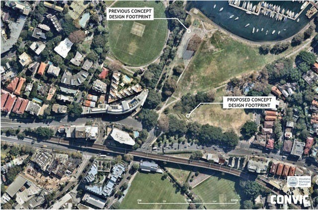 Concept Plan for Rushcutters Bay Park Youth Recreation Area