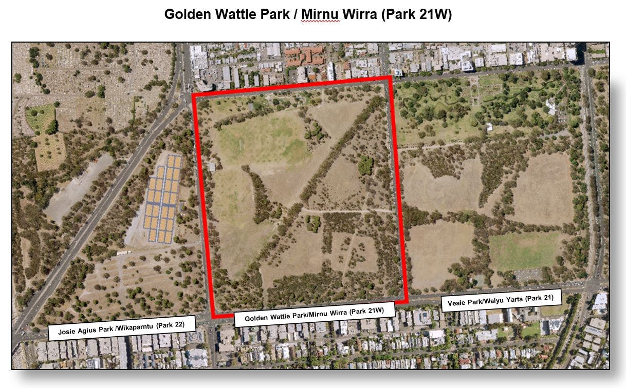 Map Golden Wattle Park