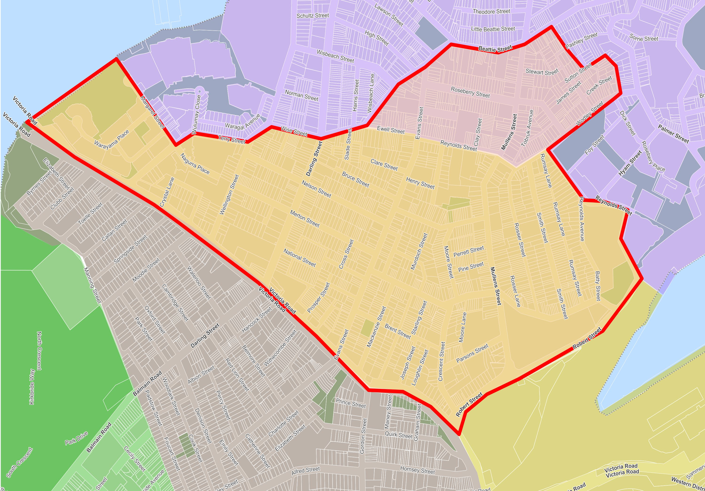 Rozelle North Precinct Parking Study Area.png