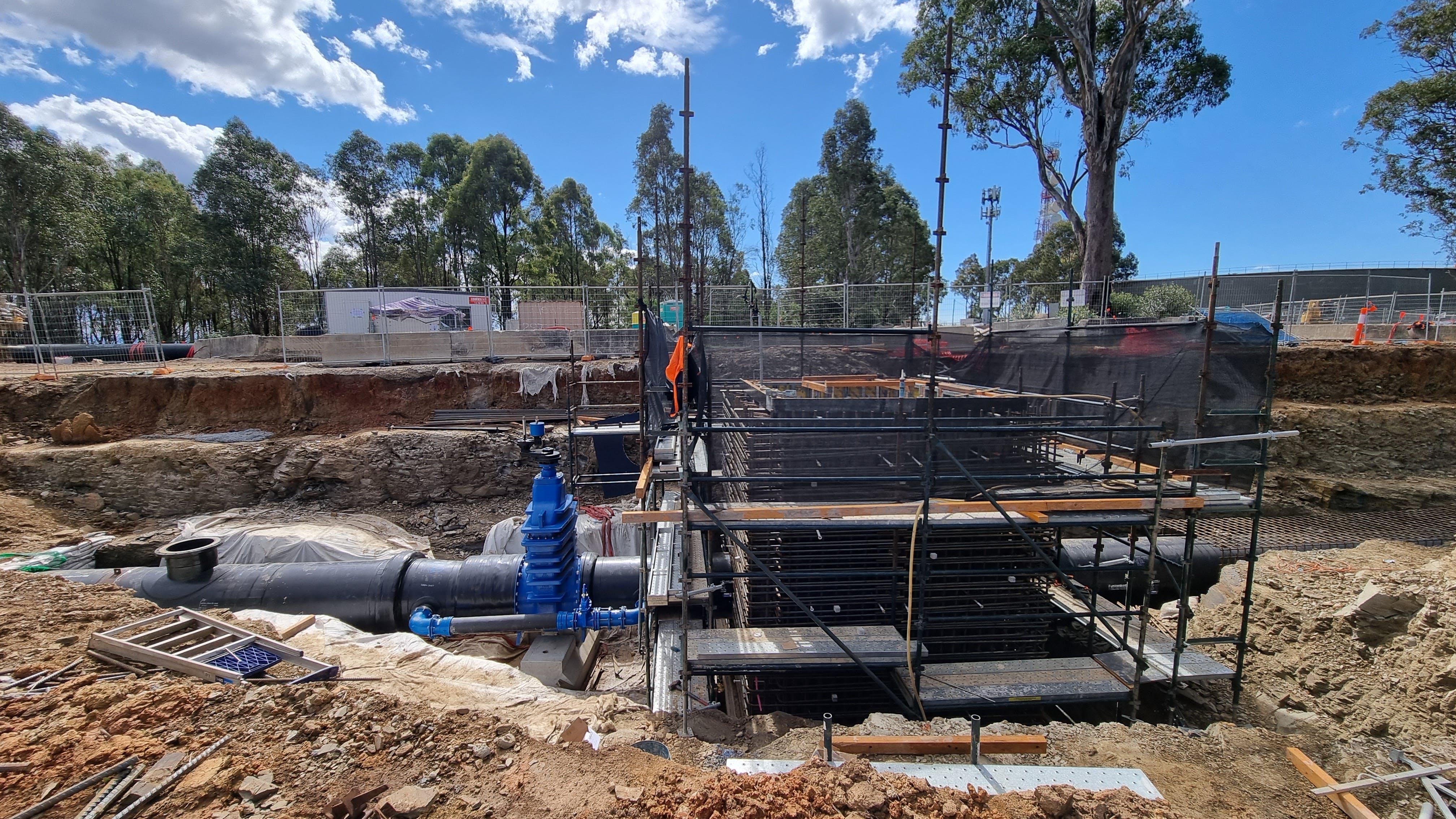 Cecil Park Reservoir butterfly valve pit - September 2021