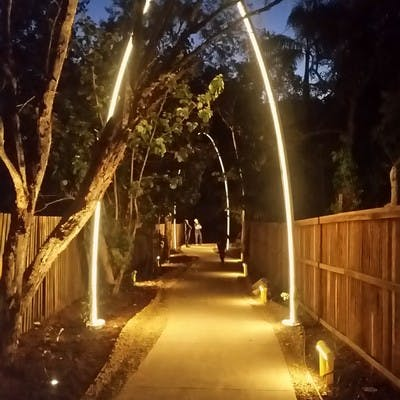 Rufous St Laneway with new lights