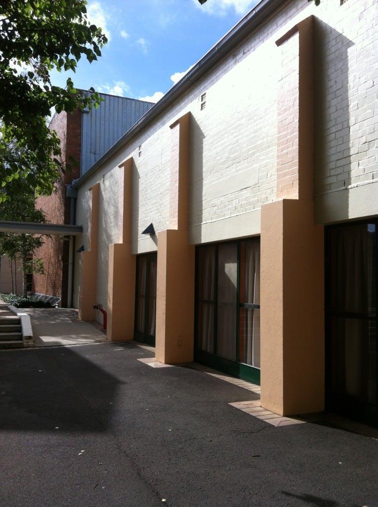 Exterior onto courtyard