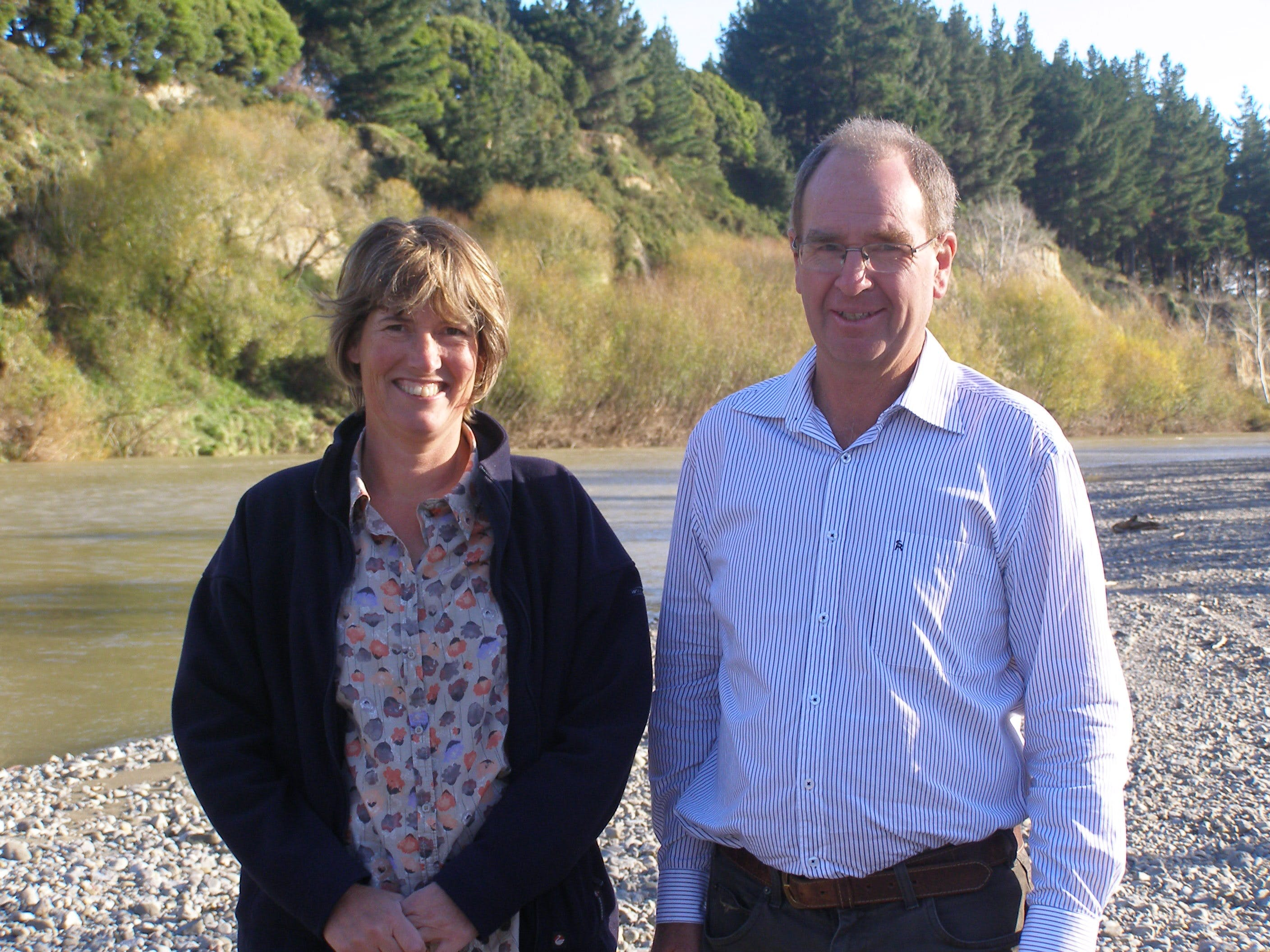 Deputy Chairy Esther Dykstra and Chair Peter Gawith