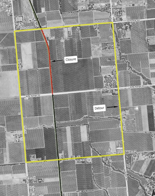 Mc Laren Vale Detour Map