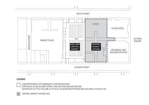 Plan Showing Affected Land   Community Land Revocation   Central Market Arcade