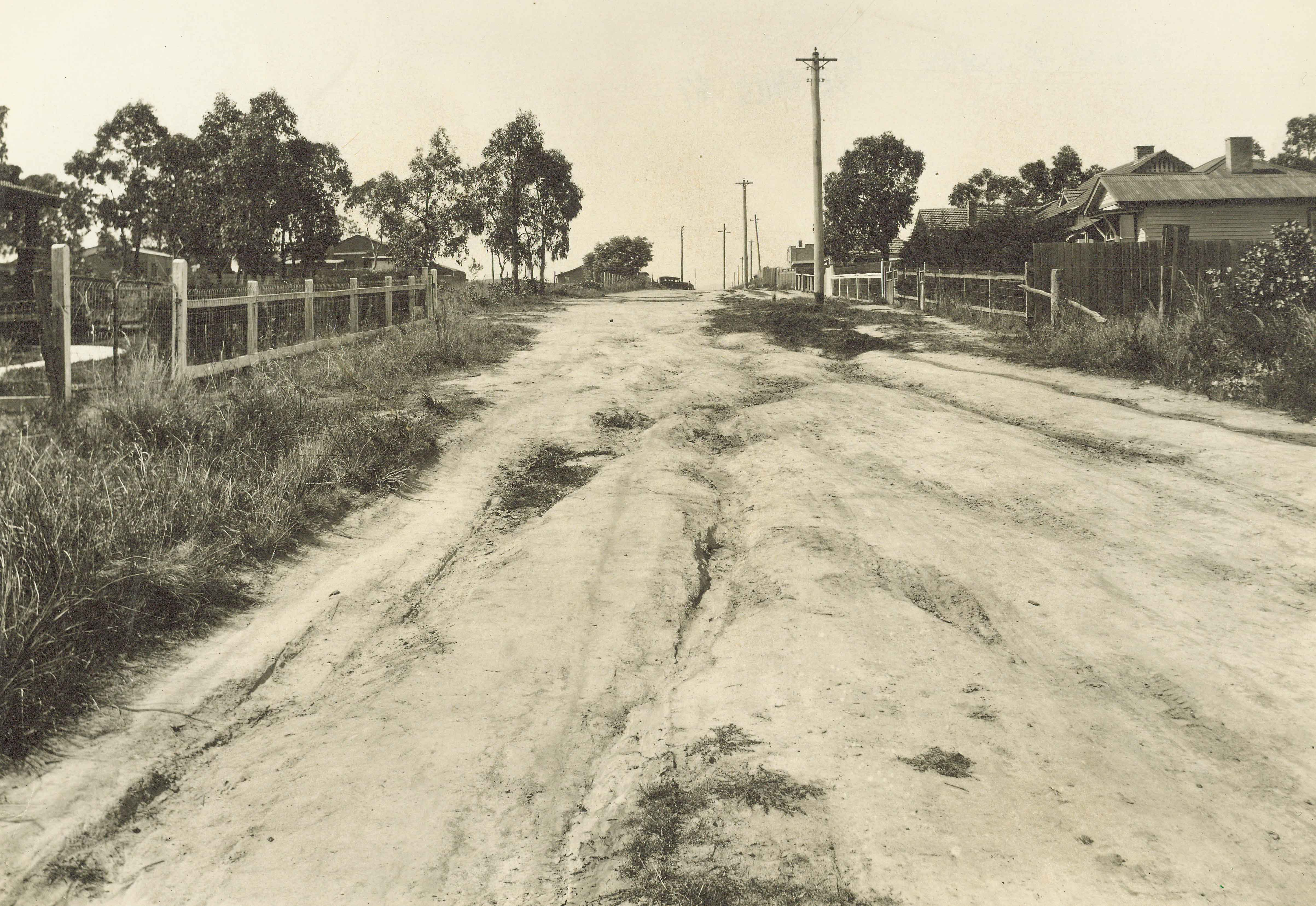 Haig Street Ringwood in the 1930/40s (Courtesy of the Ringwood Historical Society -SS0122)
