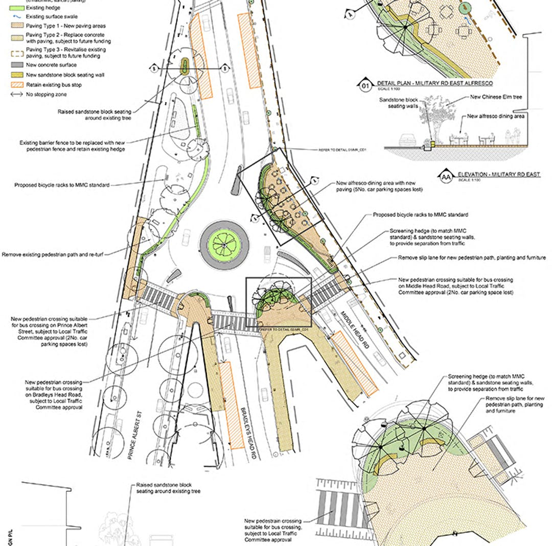 Military Road Streetscape Upgrade