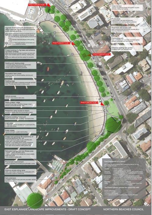 East Esplanade Landscape Plan Draft Concept Image For Your Say Page - Nov 2017