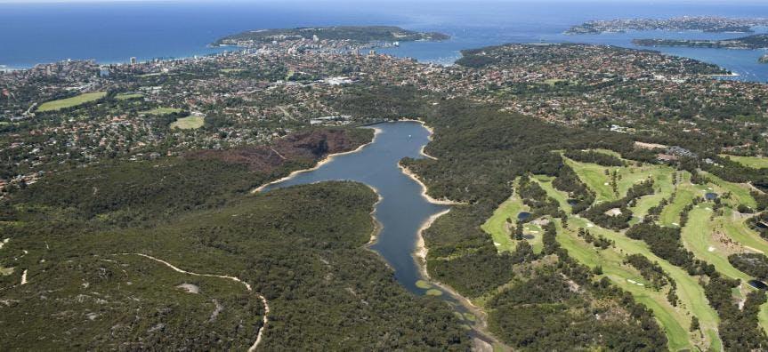 Manly dam aerial