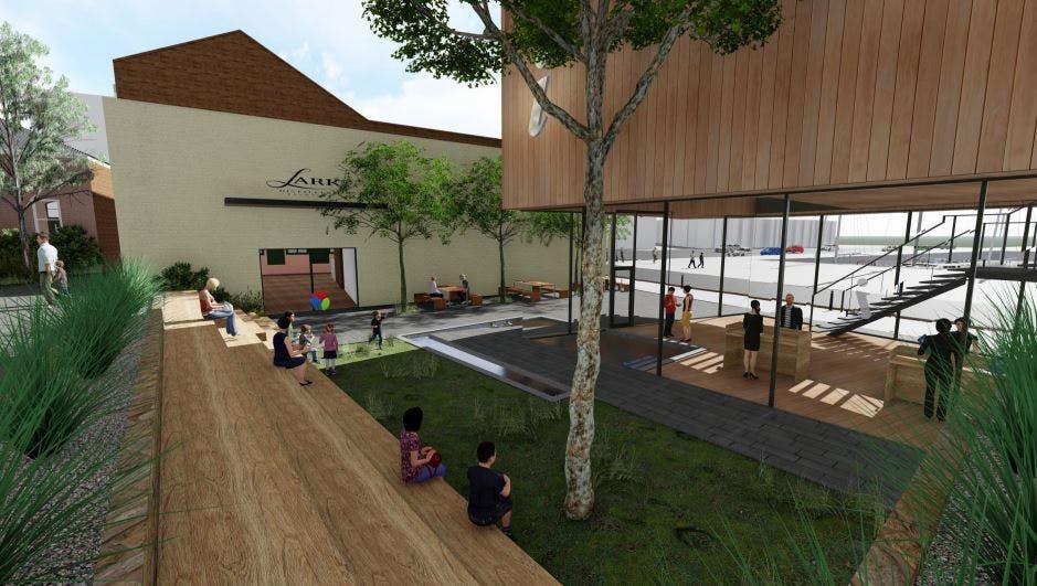 Spirit Place alfresco courtyard perspective