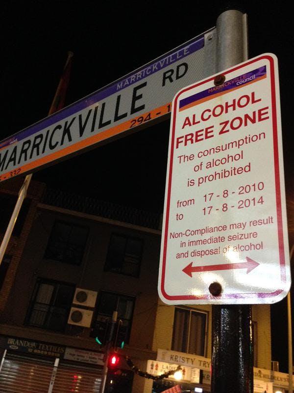 Alcohol Free Zone Big