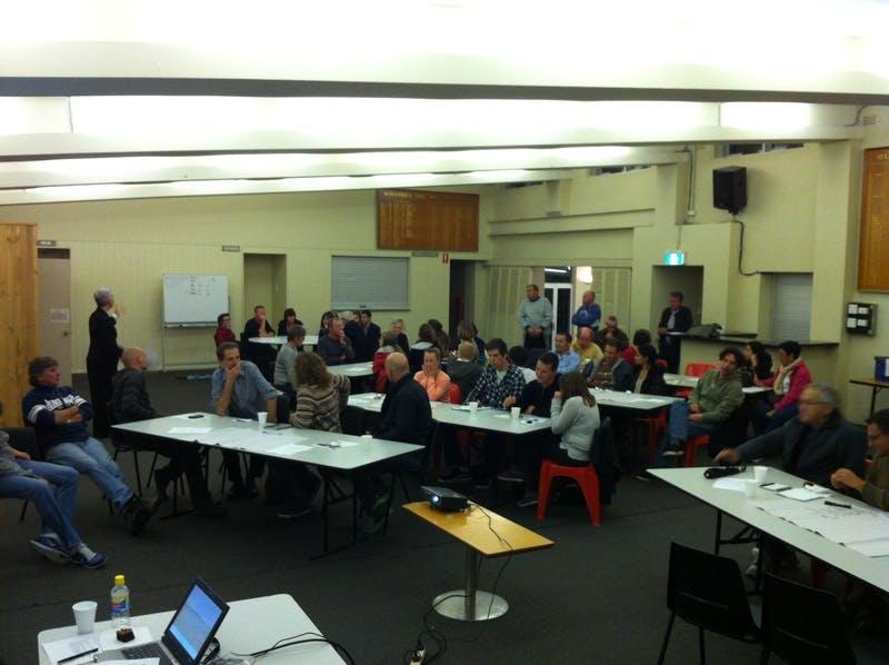 Community meeting 22 October 2012