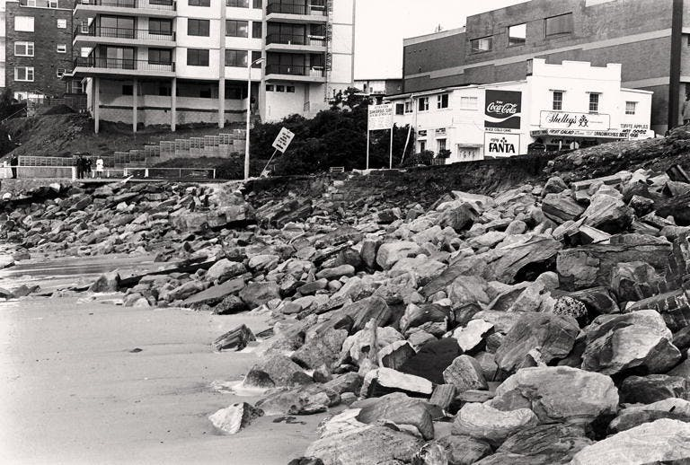North Cronulla Beach after storm (1974)