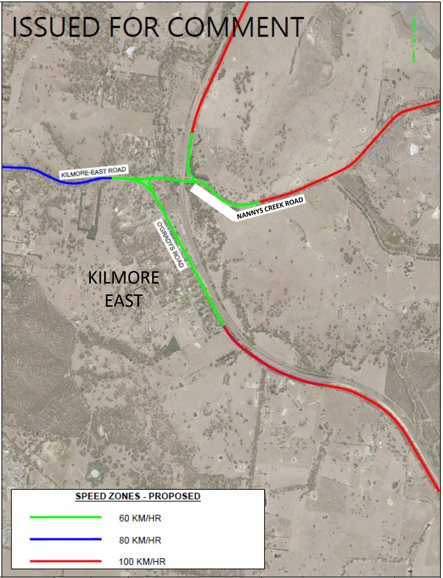 Kilmore East Speed Zone Map